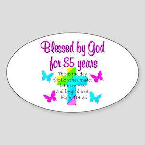 85th LOVE GOD Sticker (Oval)