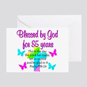 85th LOVE GOD Greeting Card