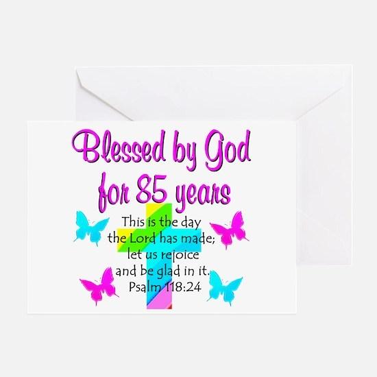 85th LOVE GOD Greeting Card