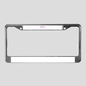 MY BOYFRIEND IS WONDERFUL License Plate Frame