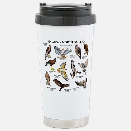 Hawks of North America Stainless Steel Travel Mug