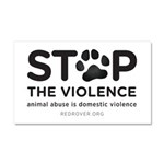 Stop The Violence Car Magnet 20 X 12