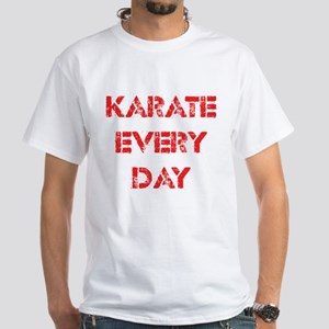 Karate Every Day White T-Shirt