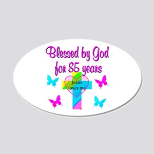 85TH CHRISTIAN 20x12 Oval Wall Decal