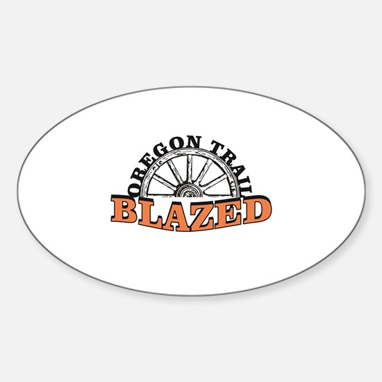 Oregon trail blazed orange Decal