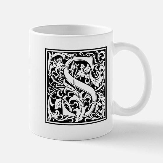 Decorative Letter S Mugs