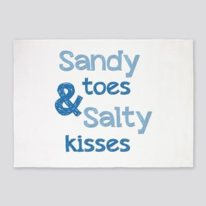 Sandy Toes Salty Kisses 5'x7'Area Rug