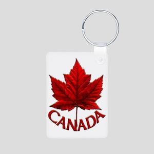 Canada Maple Leaf Souvenir Aluminum Photo Keychain