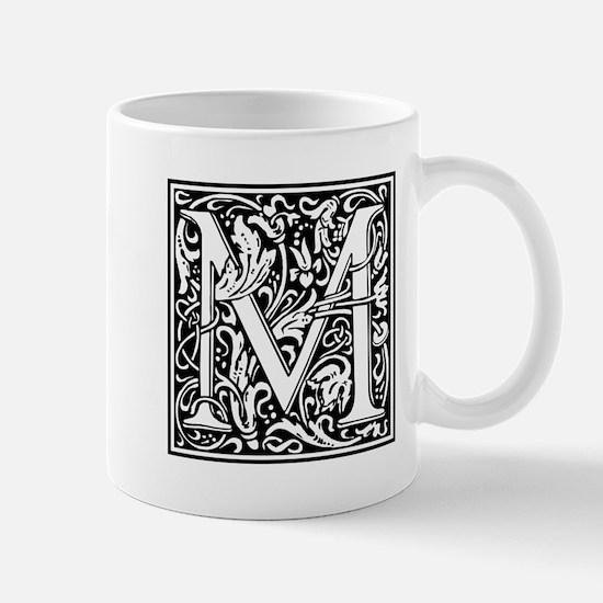 Decorative Letter M Mugs