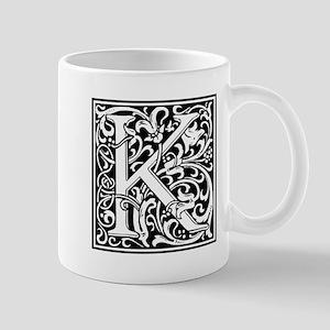Decorative Letter K Mugs