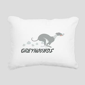 Greyhounds Rectangular Canvas Pillow