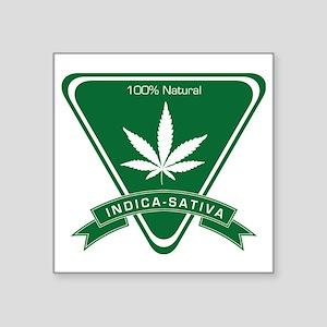 """Indica Sativa Square Sticker 3"""" x 3"""""""