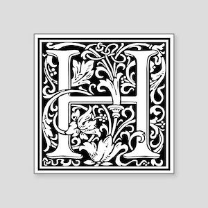 Decorative Letter H Sticker