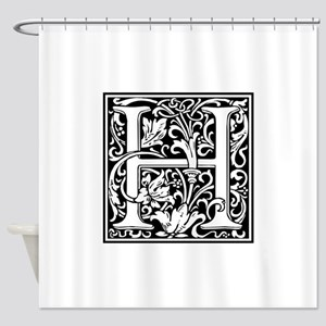 Letter h shower curtains cafepress decorative letter h shower curtain altavistaventures Choice Image