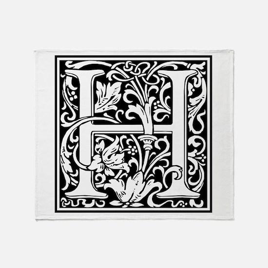 Decorative Letter H Throw Blanket