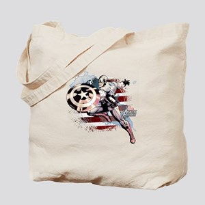 Grunge Captain America Tote Bag