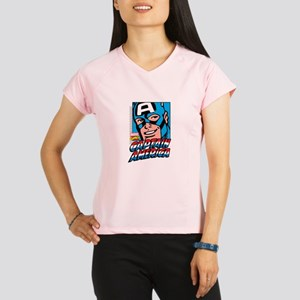 Captain America Smiling Performance Dry T-Shirt