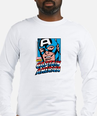 Captain America Smiling Long Sleeve T-Shirt