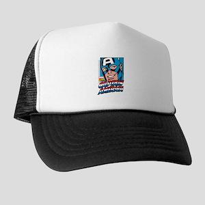 Captain America Smiling Trucker Hat