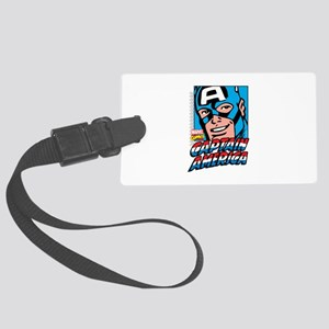 Captain America Smiling Large Luggage Tag