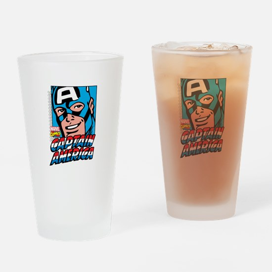 Captain America Smiling Drinking Glass