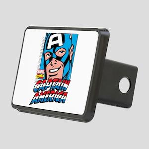 Captain America Smiling Rectangular Hitch Cover