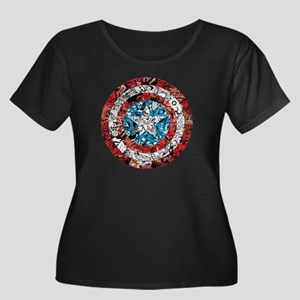 Shield C Women's Plus Size Scoop Neck Dark T-Shirt