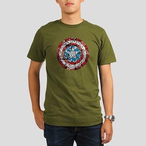 Shield Collage Organic Men's T-Shirt (dark)