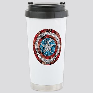 Shield Collage Stainless Steel Travel Mug