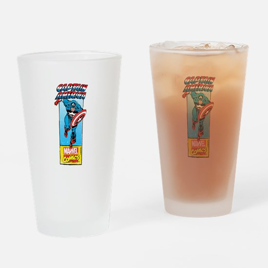 Captain America Action Drinking Glass
