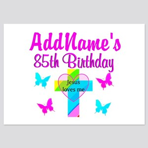 85 birthday invitations and announcements cafepress 85th praise jesus 5x7 flat cards filmwisefo