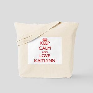 Keep Calm and Love Kaitlynn Tote Bag