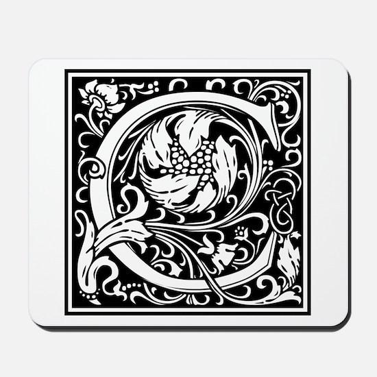 Decorative Letter C Mousepad
