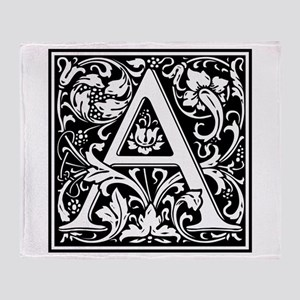 Decorative Letter A Throw Blanket