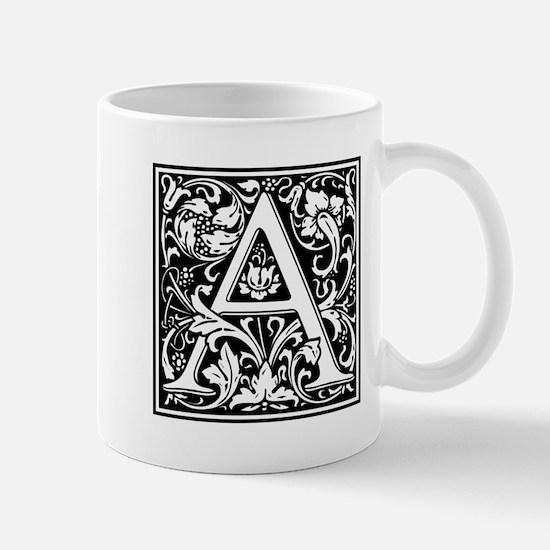 Decorative Letter A Mugs