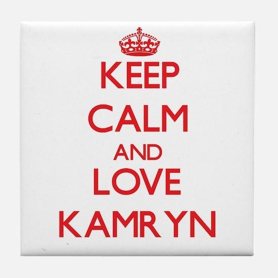 Keep Calm and Love Kamryn Tile Coaster