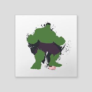 """Minimalist Hulk Square Sticker 3"""" x 3"""""""