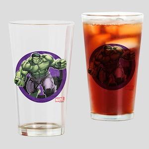The Hulk Badge Drinking Glass