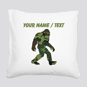 Custom Camo Bigfoot Square Canvas Pillow