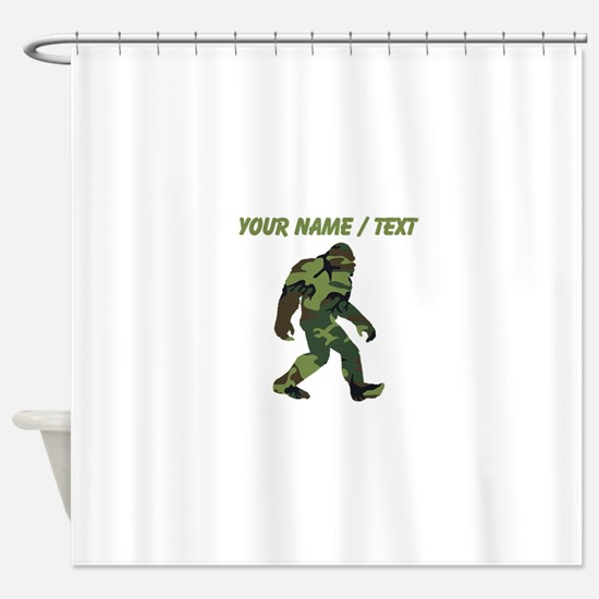 Custom Camo Bigfoot Shower Curtain