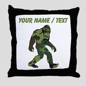 Custom Camo Bigfoot Throw Pillow