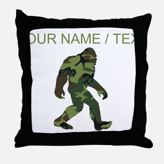 Custom Camo Bigfoot Throw Pillow