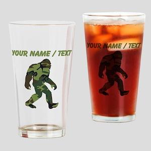 Custom Camo Bigfoot Drinking Glass