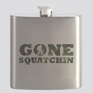 Gone Squatchin Camouflage Flask