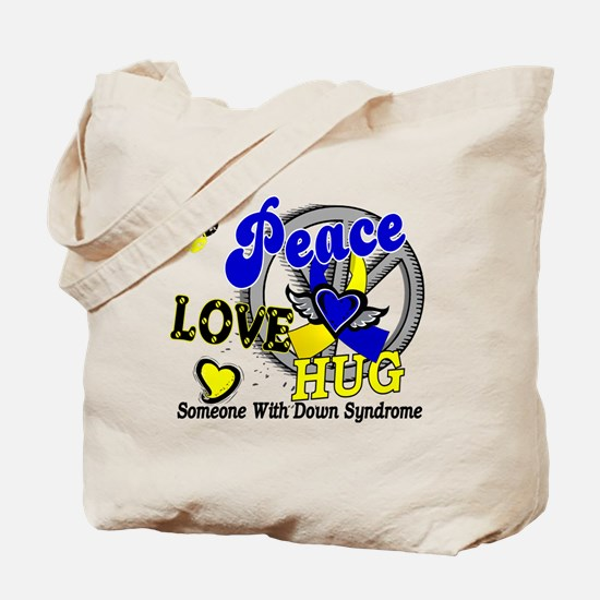 DS Peace Love Hug 2 Tote Bag