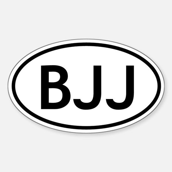 BJJ Sticker (Oval)