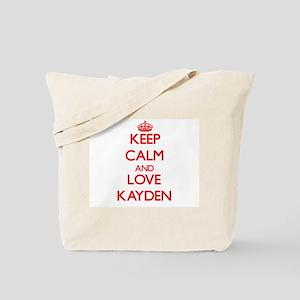 Keep Calm and Love Kayden Tote Bag