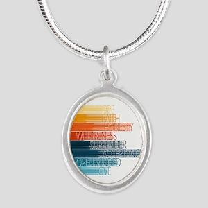 Spiritual Principles Silver Oval Necklace