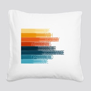Spiritual Principles Square Canvas Pillow
