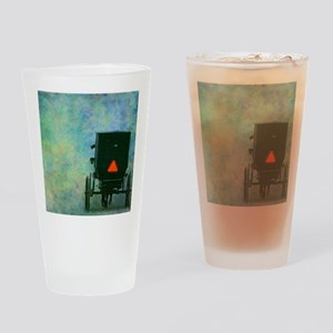 Amish Buggy Drinking Glass